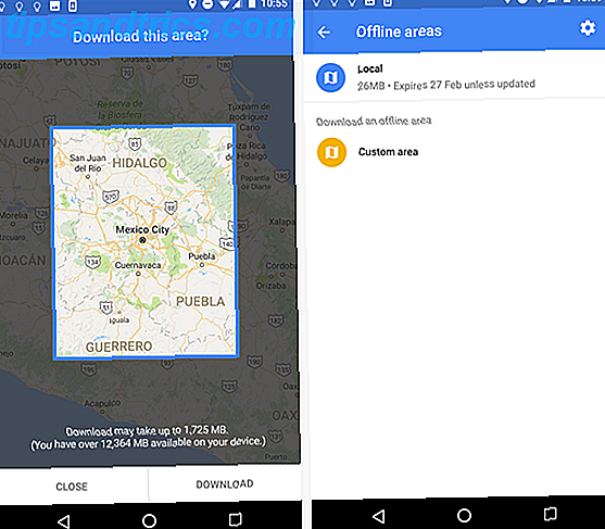 on download google maps offline android