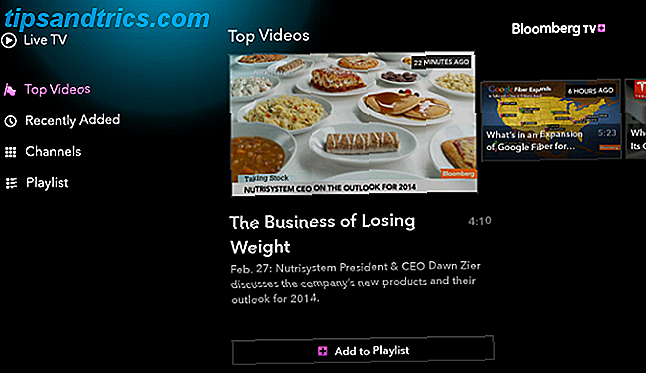 Bloomberg TV + Android TV-app
