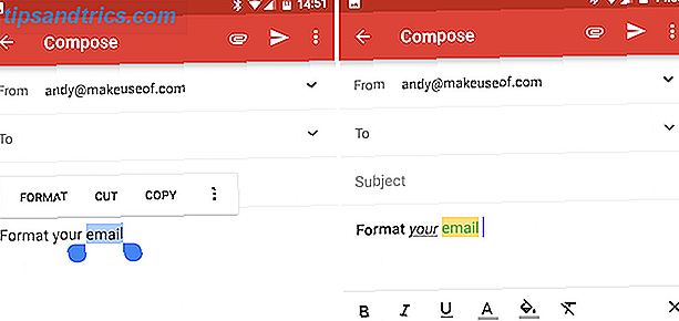Android Gmail Format i tuoi messaggi