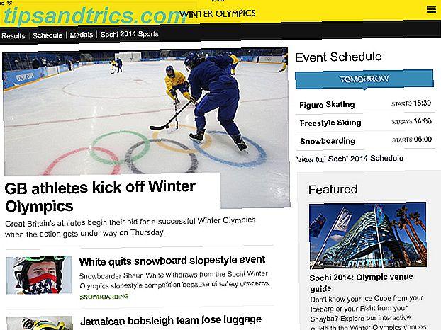 ¡Los Juegos Olímpicos de Invierno de Sochi 2014 ya casi están aquí!  Con las siguientes aplicaciones y fuentes de noticias, podrá mantenerse al día con la acción a medida que suceda.
