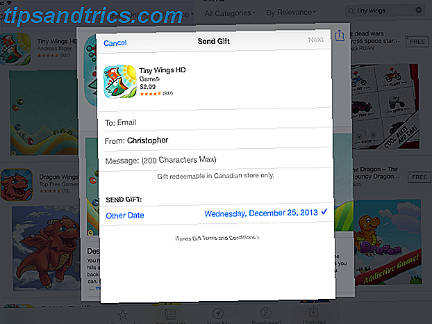 Sådan sender du dine venner Apps til jul