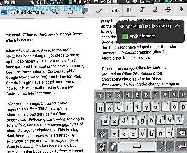 Microsoft Office pour Android et Google Docs: quel est le meilleur?