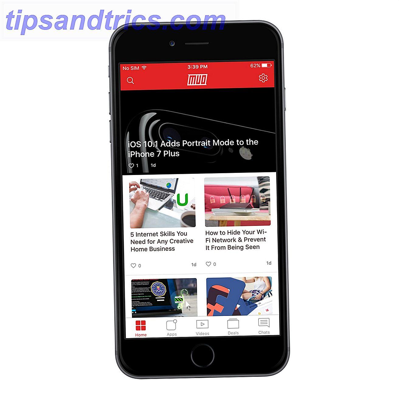 MakeUseOfs nye iPhone App er her og du vil elske det