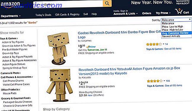 Hoe Amazon zoekresultaten te sorteren op aantal beoordelingen