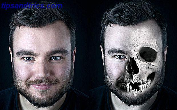 Halloween approche et il est temps de changer votre photo de profil Facebook en quelque chose de fantasmagorique.  Nous vous montrons comment avec un selfie, un crâne et Photoshop.
