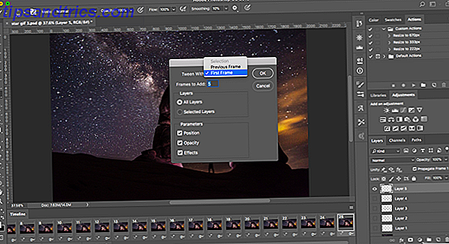 instructions avancées de gif animées photoshop