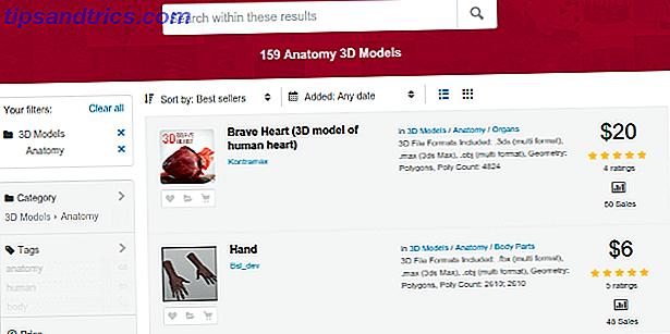 Qualitativ hochwertige 3D-Modelle sind schwer zu finden.  Modelle der menschlichen Anatomie sind noch schwerer zu finden.  Hier sind ein paar Seiten, um Sie in die richtige Richtung zu starten.