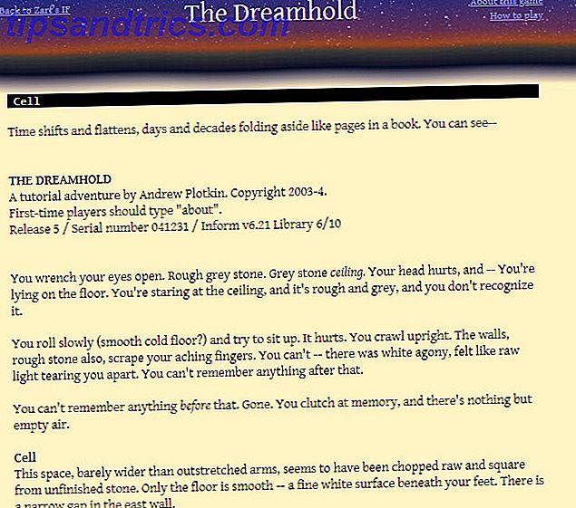 Wil je op tekst gebaseerde games spelen in je webbrowser?  Hier zijn een aantal geweldige op tekst gebaseerde spellen voor iedereen die wat interactieve fictie in zijn leven nodig heeft.