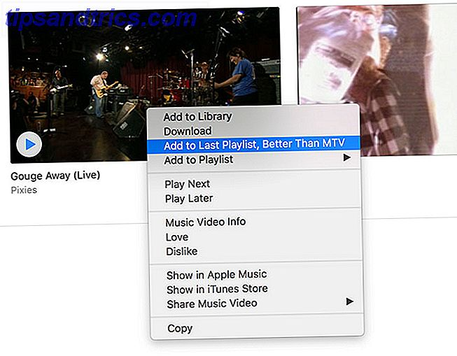 Menu contextuel iTunes