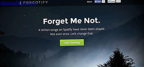 Spotify ha 20 milioni di brani seduti lì in attesa di essere trovati e amati.  È qui che Forgotify entra nell'equazione.  Si dedica a fornire le tracce inesplorate che nessuno ha ancora suonato su Spotify.