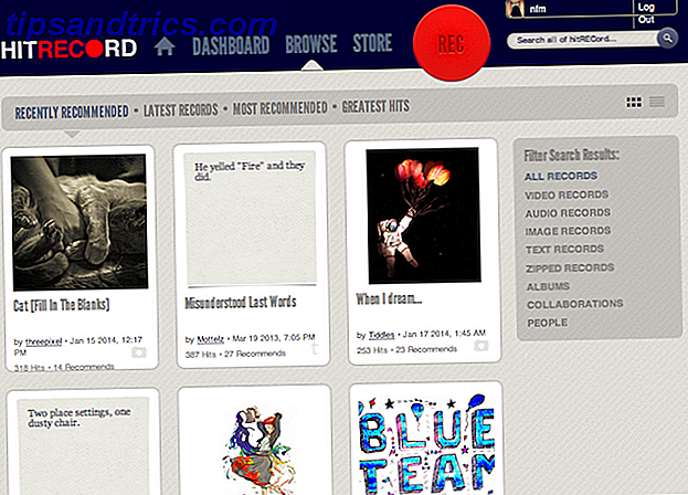 Werk artistiek samen met creaties uit de hele wereld met HitRecord