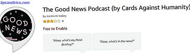 El podcast Good News para los podcasts de Amazon echo