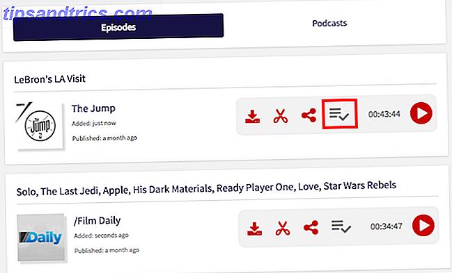 Ecco come creare una playlist di episodi podcast da più podcast per l'ascolto successivo.