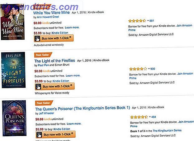 Een abonnementsservice voor Kindle-boeken?  Dat klinkt absoluut geweldig.  Helaas is Amazon's belofte van meer dan een miljoen eBooks voor slechts $ 9,99 per maand te mooi om waar te zijn.
