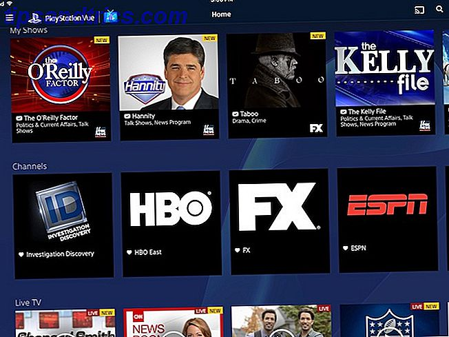 Exemple de catalogue PlayStation Vue