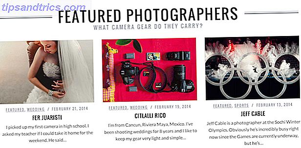 Hvad er der i deres kamera tasker?  Disse websteder vil fortælle dig