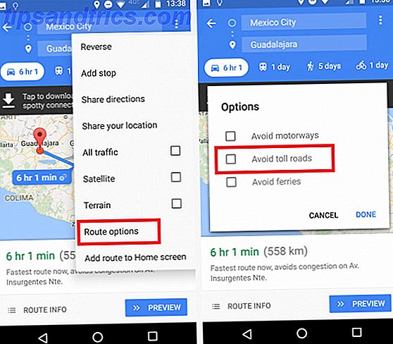 Slik unngår du Tolls og spare penger med denne Google Maps-funksjonen