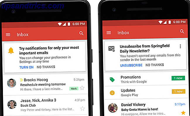 Notifications Gmail et se désabonner mobile