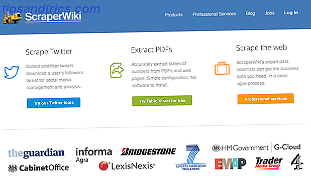 Data Science in the Cloud doen met ScraperWiki