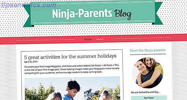 Wix template parenting blog