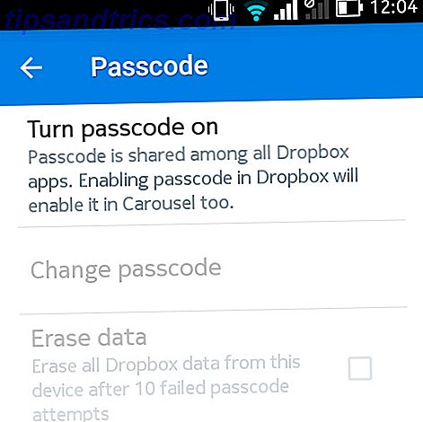 dropbox-adgangskode-android