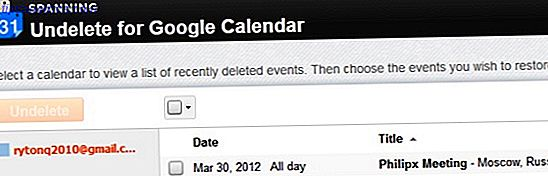 Undelete pour Google Agenda: facilement récupérer des événements Google Agenda supprimés facilement