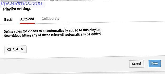 O YouTube pode adicionar automaticamente novos vídeos às suas playlists com base em determinadas palavras-chave que você configurou.