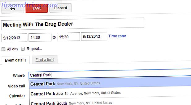 Google Agenda inclut désormais des suggestions d'auto-complétion d'emplacement de carte et des suggestions de recherche d'événements basées sur des mots clés.