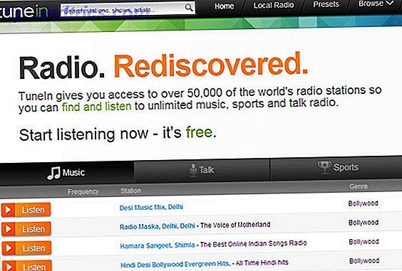 Sintonize-se no TuneIn Online Radio e ouça músicas, esportes e talk