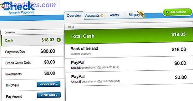 Chèque vous permet de suivre vos liquidités, de surveiller vos placements et de payer vos factures gratuitement.  Connu comme PageOnce plus tôt, il offre des applications mobiles et un site Web pour garder un œil sur vos finances.