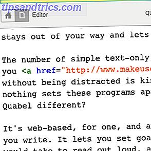 Pruebe una forma más simple de escribir.  Quabel es un editor de texto en línea que se mantiene fuera de tu camino y te permite concentrarte.