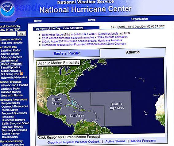 Los sitios web de seguimiento de huracanes son especialmente importantes durante la temporada de huracanes.  Para las personas, podría servir como precaución al planificar vacaciones o empacar con suministros esenciales.
