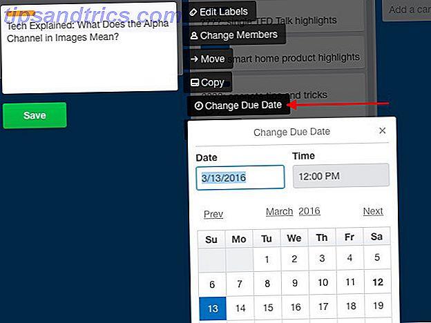 Opgaveliste er lettere at arbejde på og afkrydse din liste, hvis du planlægger dem i din kalender.  Kalenderen viser Trello er en fantastisk funktion til at styre dit liv.