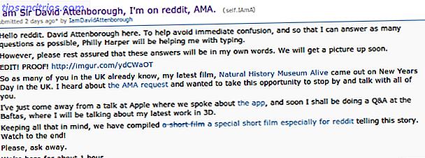 Sous le subreddit IAmA, vous trouverez des interviews informelles avec toutes sortes de personnes intéressantes.  Ce sont quelques-unes des meilleures AMA en ligne.