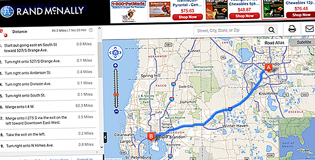 rand mcnally directions web