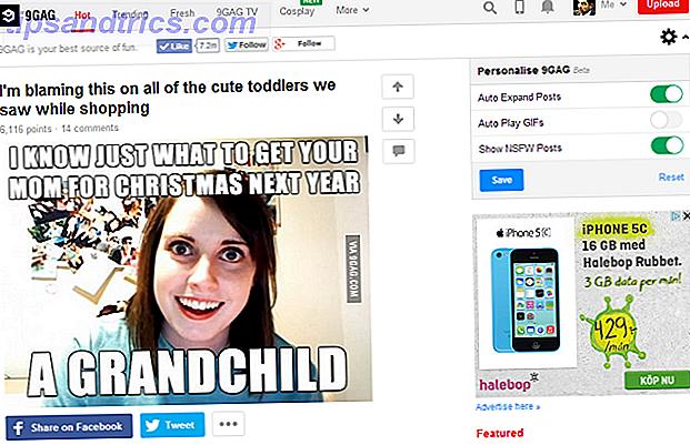 Vielleicht haben Sie schon von dieser Memesharing-Site gehört, die Ähnlichkeiten mit Reddit aufweist, oder vielleicht ist dies Ihre erste Begegnung mit 9GAG.  So oder so, werfen Sie einen Blick auf diese Meme-Seite für lacht.
