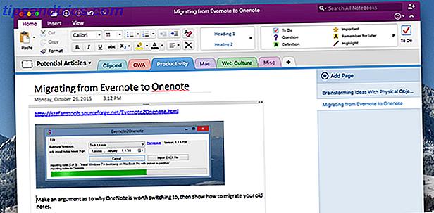 Pensez-vous que Microsoft OneNote est meilleur qu'Evernote?  Ou peut-être, cela convient à votre style de gestion de projet.  De toute façon, voici comment vous pouvez facilement transférer toutes vos notes d'Evernote à OneNote.