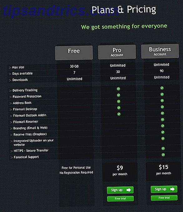 Filemail est un service génial qui vous permet d'envoyer des fichiers volumineux jusqu'à 30 gigaoctets sur un compte gratuit à n'importe qui.