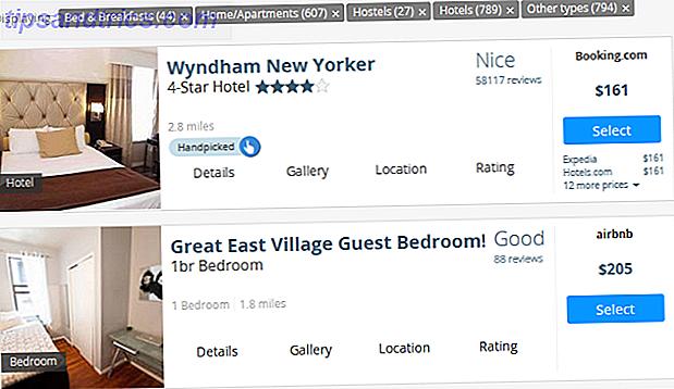 La próxima vez que desee reservar un lugar donde alojarse mientras viaja, esta herramienta lo agrega todo: hoteles, Airbnb, couchsurfing y más.