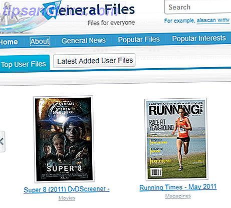 Fichiers généraux: recherche de fichiers disponibles en tant que liens directs ou services de partage de fichiers