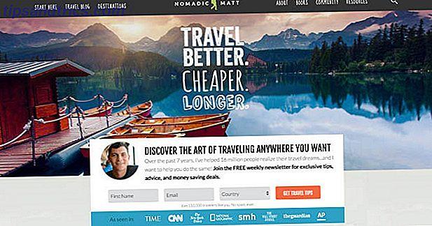 Travel encuentra su lugar en todas las listas de sueños.  Estos diez mejores blogs de viajes y consejos de trotamundos te pueden llevar a los destinos más emocionantes del mundo, incluso con un presupuesto limitado.