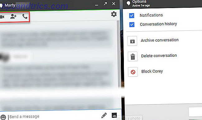 comment utiliser Google Hangouts - Options de chat