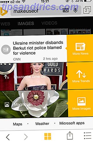 Bing acaba de lanzar algunas características nuevas y emocionantes para su aplicación de iPhone, que incluyen nuevas fichas estilo Metro y múltiples búsquedas.