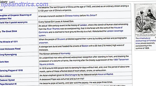 Découvrez ces histoires étranges de l'histoire.  Des faits sur Wikipédia aux narrations hilarantes dans les podcasts, ces cinq sites ont tout.