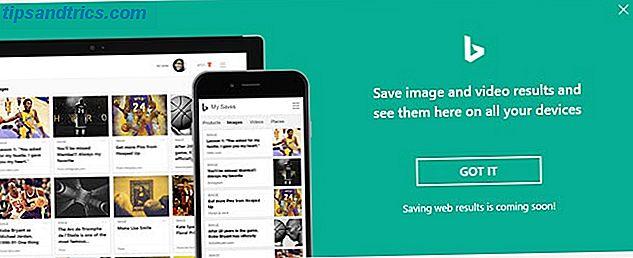 Bing sert enfin un but utile: Enregistrement des résultats de recherche pour plus tard