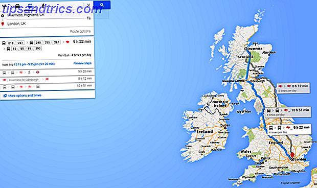 Google hat Google Maps eine große Menge an Informationen zum Transport in Großbritannien zur Verfügung gestellt, damit Sie Ihre Reise nachschlagen können.  Nie wieder werden Sie sich fragen, wann der nächste Bus ankommen wird.