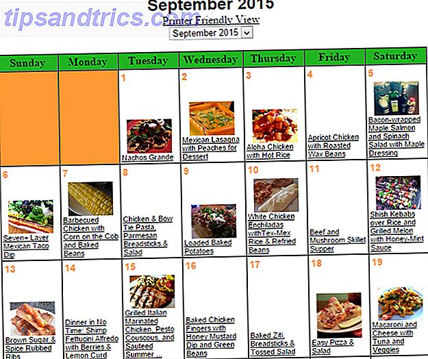 Προγραμματίστε εβδομαδιαία γεύματα σε λιγότερο από 1 ώρα με 5 εργαλεία Ιστού