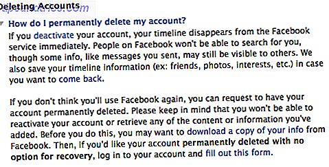 Deaktiver facebook konto