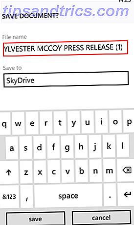 skydrive für Windows-Telefon