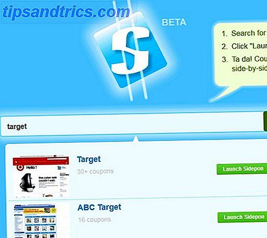 Sidepon: Veja os cupons de compras em uma barra lateral enquanto você navega pelos sites dos varejistas